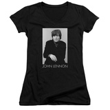 Juniors: John Lennon- Solo V-Neck Womens V-Necks