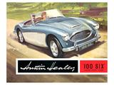 Austin Healey 100 Six 2 Seater Print