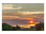 Barn on the Ridge at Sunset Prints by Don Schwartz