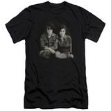 John Lennon- With Yoko & Berets (Slim Fit) Shirt