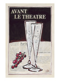 Avant Le Theatre Champagne Posters by Rene Stein