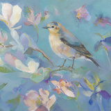 Birds in Magnolia - Detail II Giclee Print by Sarah Simpson