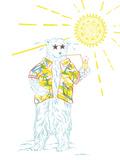 Summer Bear Giclee Print by Jessica Wilson