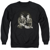 Crewneck Sweatshirt: John Lennon- With Yoko & Berets T-Shirt