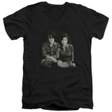 John Lennon- With Yoko & Berets V-Neck T-shirts