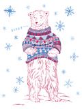 Winter Bear Giclee Print by Jessica Wilson