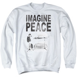Crewneck Sweatshirt: John Lennon- Imagine Peace T-Shirt