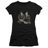 Juniors: John Lennon- With Yoko & Berets T-Shirt