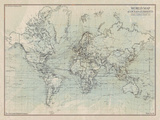 Ocean Current Map I Giclée-Druck von  The Vintage Collection