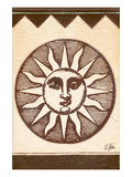 Antique Sunburst Symbol Poster by Rene Stein