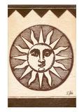 Antique Sunburst Symbol Poster by Rene Stein