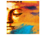 Abstract Buddhist Collage Print