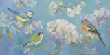 Birds in Blossom Giclee Print by Sarah Simpson