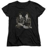 Womans: John Lennon- With Yoko & Berets Camiseta
