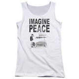 Juniors Tank Top: John Lennon- Imagine Peace Womens Tank Tops