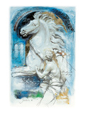 Alexander Taming Bucephalus Print by  Joadoor