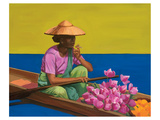 Floating Market Lake Intey Print by Renate Holzner