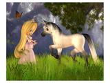 Fairytale Princess & Unicorn Art