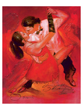 Expression of Dance Prints by  Joani