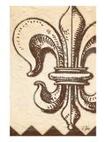 Bourbon Lily Fleur de Lis Print by Rene Stein