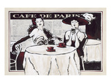 Cafe de Paris Des Dames Prints by Rene Stein