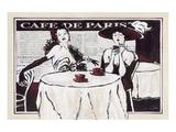 Cafe de Paris Des Dames Prints by Rene Stein