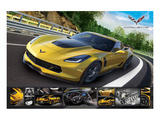 Corvette Stingray with Details Posters