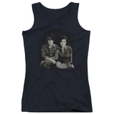 Juniors Tank Top: John Lennon- With Yoko & Berets T-Shirt