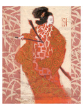 Geisha in Arms Prints by  Joadoor
