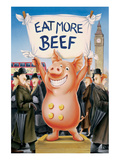 Eat More Beef Poster by Renate Holzner