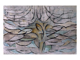 Flowering Apple Tree Reproduction giclée Premium par Piet Mondrian