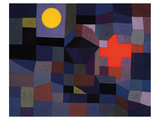 Fire at Full Moon 1933 Print by Paul Klee