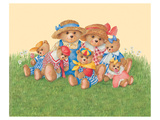 Family Bear Prints by Renate Holzner