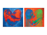 Carmine Thorner - Contrasted Hearts Speciální digitálně vytištěná reprodukce