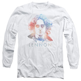 Long Sleeve: John Lennon- Color Burst T-Shirt