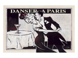 Danser à Paris with Martinis Print by Rene Stein