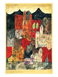 City of Churches 1918 Giclee-tryk i høj kvalitet af Paul Klee
