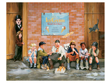 Chaplin Kid Alley Ice Cream Prints by Renate Holzner