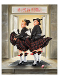 Laurel & Hardy Flying Skirts Prints by Renate Holzner