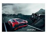 Lamborghini Aventador Cockpit Poster