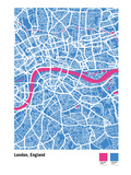 London Street Map Giclee Print by Michael Tompsett