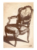 Louis XIV Chair Prints by Rene Stein