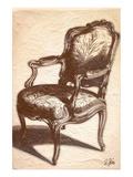 Louis XIV Chair Prints by Rene Stein