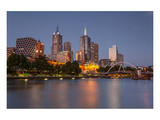 Melbourne Southbank Panorama Poster
