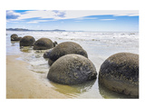 Moeraki Boulders New Zealand Prints