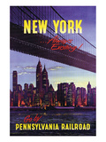 New York Giclee-tryk i høj kvalitet