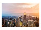 New York Skyline Sunset Láminas