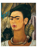 Portrait with Monkey1938 Print by Frida Kahlo