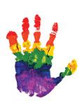Rainbow Hand Imprint in Oil Prints