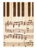 Rhapsodic Notes over Piano Print by Rene Stein